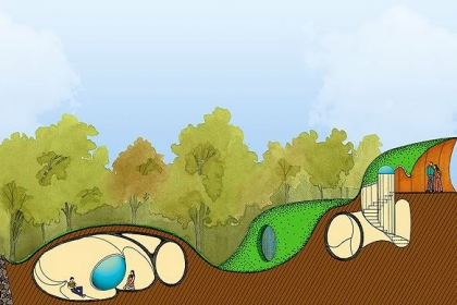 Độc đáo ngôi nhà 'giấu mình' dưới lòng đất