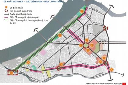 Thiết kế đô thị tại 3 tuyến đường ở TP Huế: Tổ chức lại không gian kiến trúc ở các trục đường