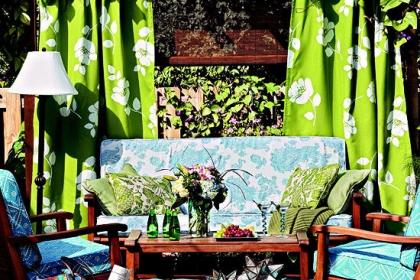 Làm điệu không gian ngoại thất với rèm