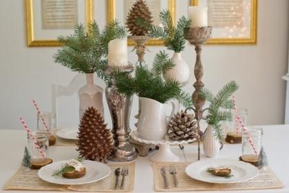 Muôn vàn cách trang trí bàn ăn đón Giáng sinh