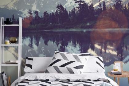 Những mẫu giấy dán tường đem cả thiên nhiên vào trong phòng ngủ