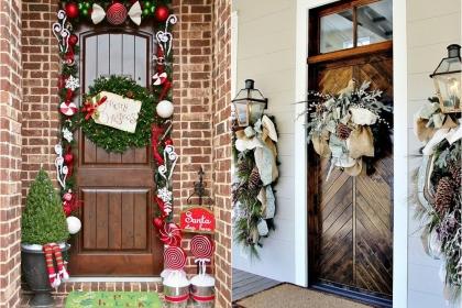 Những ý tưởng thú vị trang trí hiên nhà đón Giáng sinh