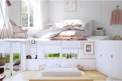 Phòng ngủ đẹp tinh tế nhờ kết hợp hài hòa ánh sáng và gam màu trắng