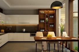 Vị trí đặt tủ bếp đúng phong thủy trong nhà