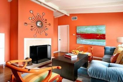 Quy tắc sử dụng màu nóng trong thiết kế nội thất