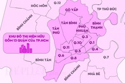 TP.HCM tính lại khu đô thị hiện hữu 13 quận nội thành