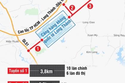 Ba tuyến giao thông kết nối với sân bay Long Thành