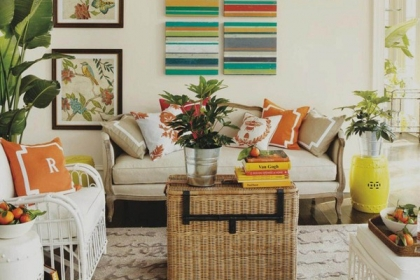 Trang trí phòng khách đón mùa xuân hè tươi đẹp